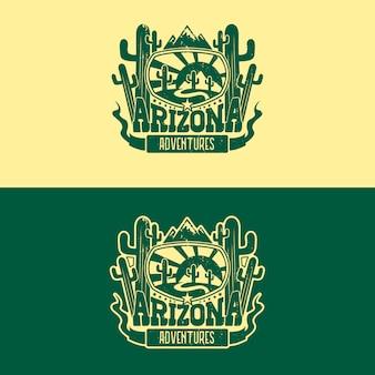 Disegno del logo distintivo dell'arizona