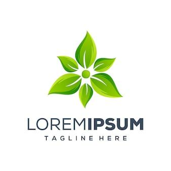 Disegno del logo foglia verde