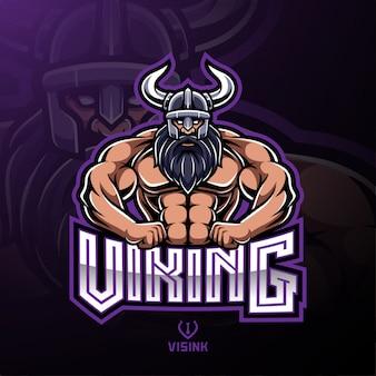 Disegno del logo mascotte sport viking