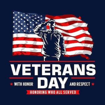 Disegno del manifesto del giorno dei veterani