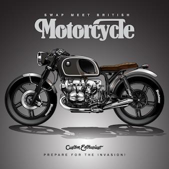 Disegno del manifesto del motociclo