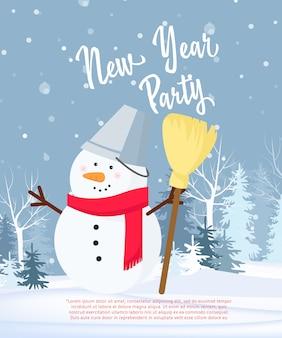 Disegno del manifesto del partito di nuovo anno