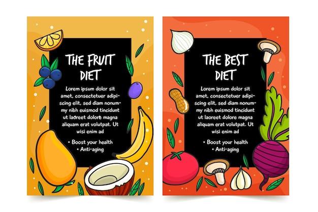 Disegno del manifesto di cibo sano