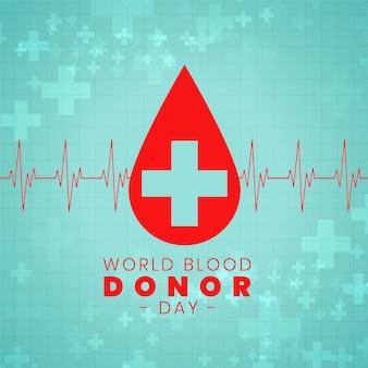 Disegno del manifesto di evento internazionale di giorno di donazione di sangue