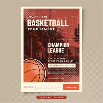 Disegno del manifesto di pallacanestro
