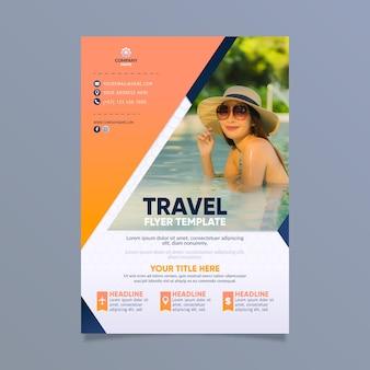 Disegno del manifesto di viaggio con foto