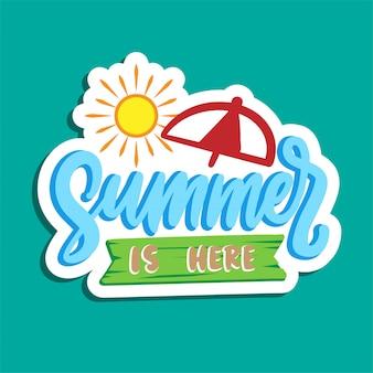 Disegno del manifesto tipografia vacanze estive