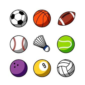 Disegno del menu set palla