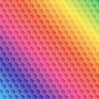 Disegno del modello a tema arcobaleno astratto