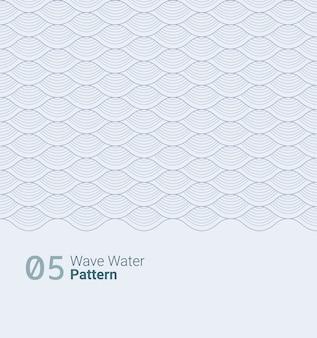 Disegno del modello d'acqua