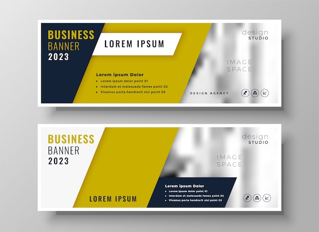 Disegno del modello di banner di business geometrica professionale
