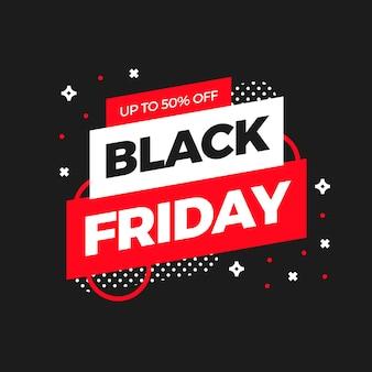 Disegno del modello di banner di vendita venerdì nero