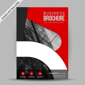 Disegno del modello di brochure vettoriale creativo