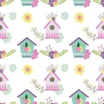 Disegno del modello di casa degli uccelli