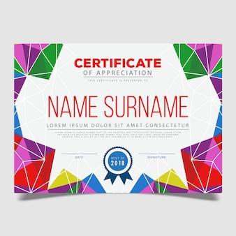 Disegno del modello di certificato vettoriale