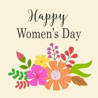 Disegno del modello di giorno delle donne felici