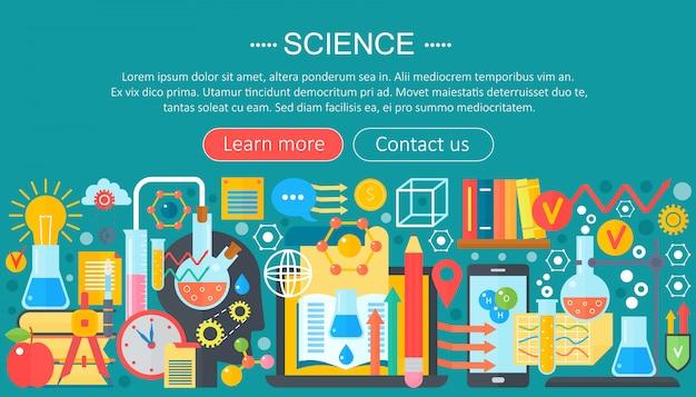 Disegno del modello di infographics di scienza e ricerca