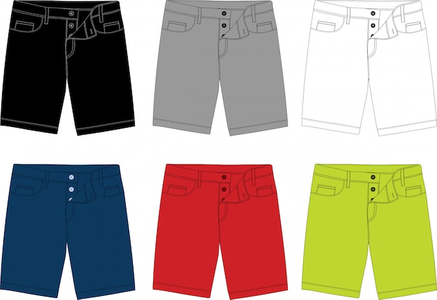 Disegno del modello di pantaloncini