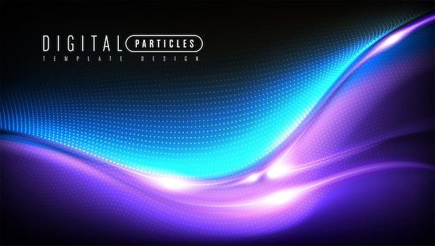 Disegno del modello di particelle sinuose