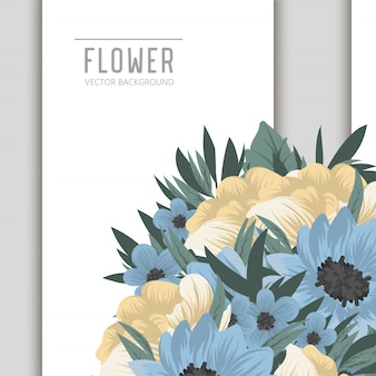 Disegno del modello di scheda di invito botanico saluto