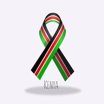 Disegno del nastro della bandiera del kenya