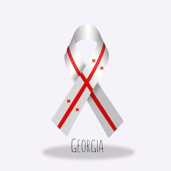 Disegno del nastro della bandiera della georgia