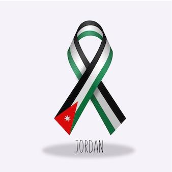 Disegno del nastro della bandiera della giordania