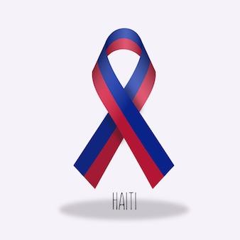 Disegno del nastro della bandiera di haiti