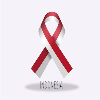 Disegno del nastro della bandierina dell'indonesia