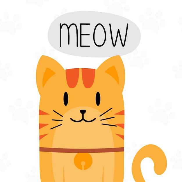 Disegno del personaggio simpatico gatto grasso