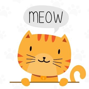 Disegno del personaggio simpatico gatto