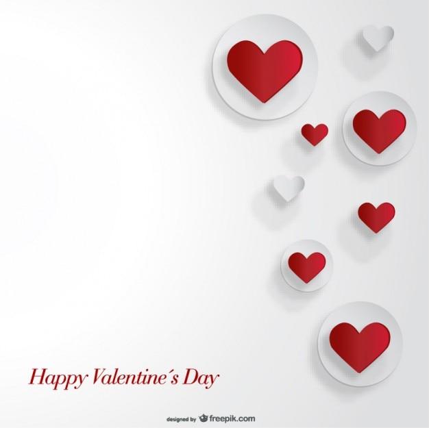 Disegno del ritaglio del cuore scheda di carta per san valentino