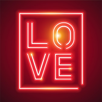 Disegno del segno di amore