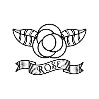 Disegno del tatuaggio delle rose