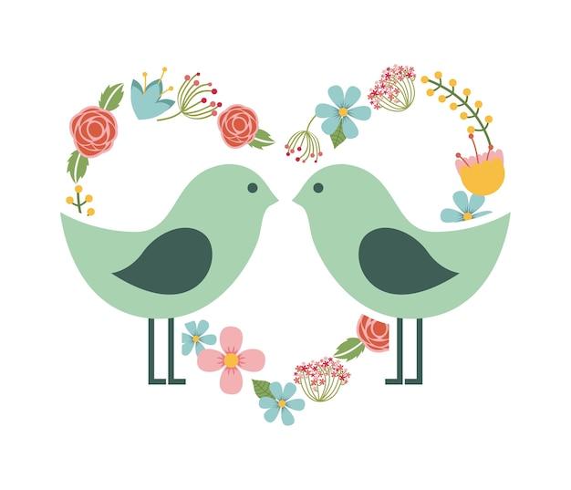 Disegno del telaio degli uccelli