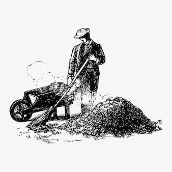 Disegno dell'annata di pulizia foglia