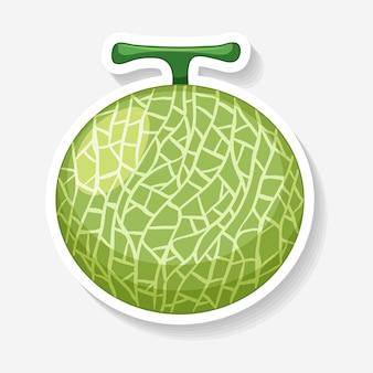 Disegno dell'autoadesivo per il melone