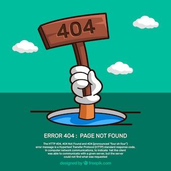 Disegno dell'errore 404 con persona che sta annegando