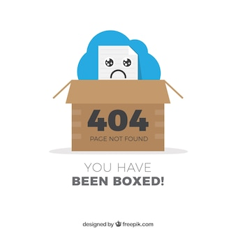 Disegno dell'errore 404 con scatola