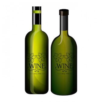 Disegno dell'etichetta del vino isolato