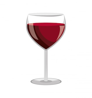 Disegno dell'etichetta di vino vetro isolato