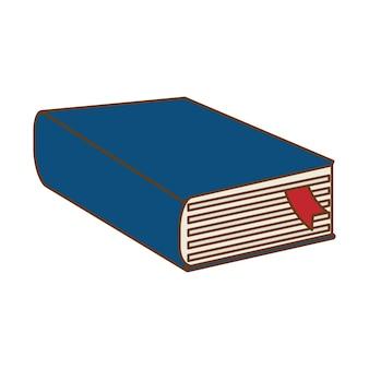 Disegno dell'icona del libro spesso blu