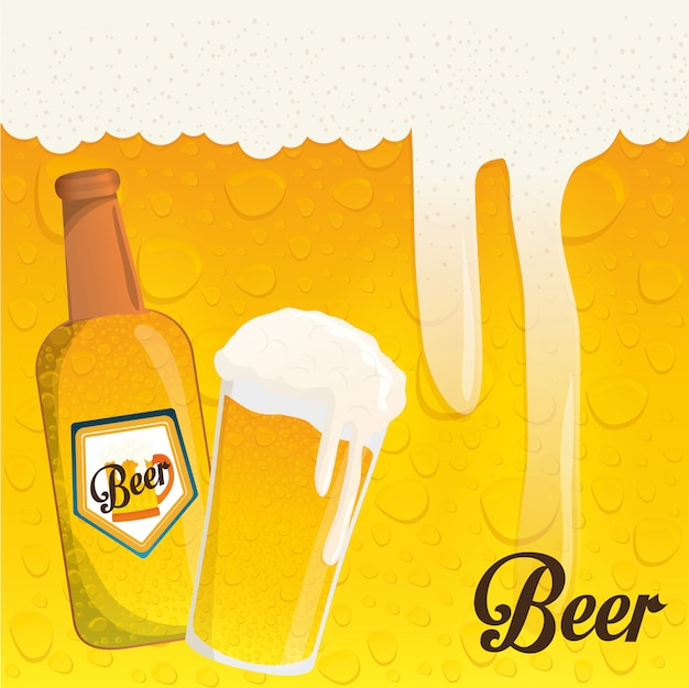 Disegno dell'icona di birra
