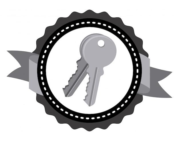 Disegno dell'icona di chiavi