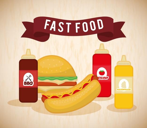 Disegno dell'icona di fast food
