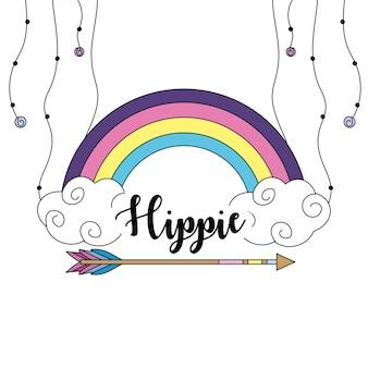 Disegno dell'icona di hippy