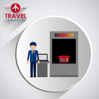 Disegno dell'icona di viaggio