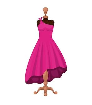 Disegno dell'icona isolato vestito moda femminile