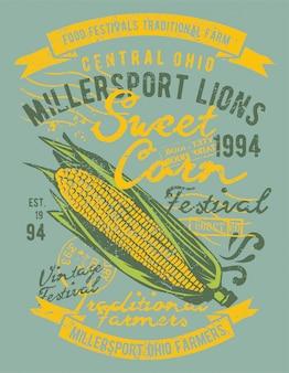 Disegno dell'illustrazione del mais
