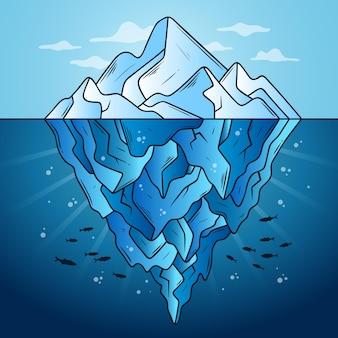 Disegno dell'illustrazione dell'iceberg
